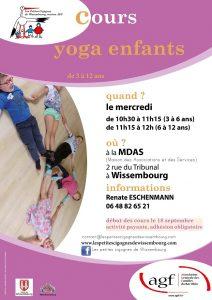 Cours yoga enfants (3 à 6 ans) @ Maison des Associations et des Services
