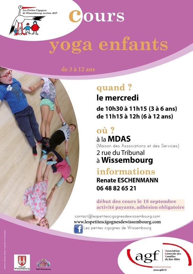 Affiche Cours de Yoga pour enfants