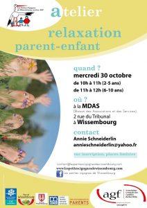 Atelier relaxation parent-enfant de 2 à 5 ans @ Maison des Associations et des Services