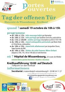 Semaine de l'allaitement - Portes ouvertes à la Maternité de Wissembourg @ Centre Hospitalier Intercommunal de la Lauter de Wissembourg