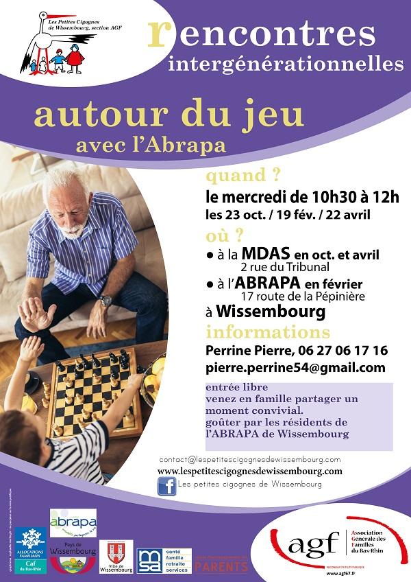 Rencontre intergénérationnelle autour du jeu avec l'ABRAPA @ Maison des Associations et des Services