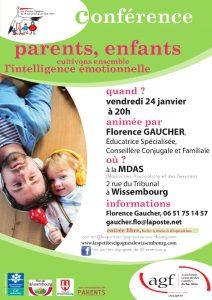 Conférence : Parents, enfants, cultivons ensemble l'intelligence émotionnelle @ Maison des Associations et des Services