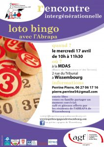 Rencontre intergénérationnelle : Loto Bingo avec l'Abrapa @ Maison des Associations et des Services