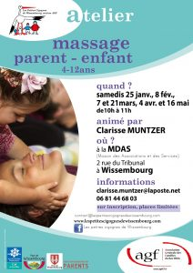 Atelier massage Parent - Enfant (4-12 ans) @ Maison des Associations et des Services
